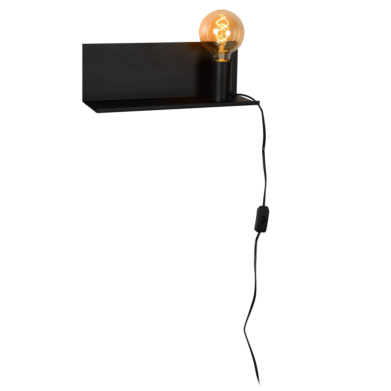 Applique métal noir LUCIDE Sebo 1 lumière(s)