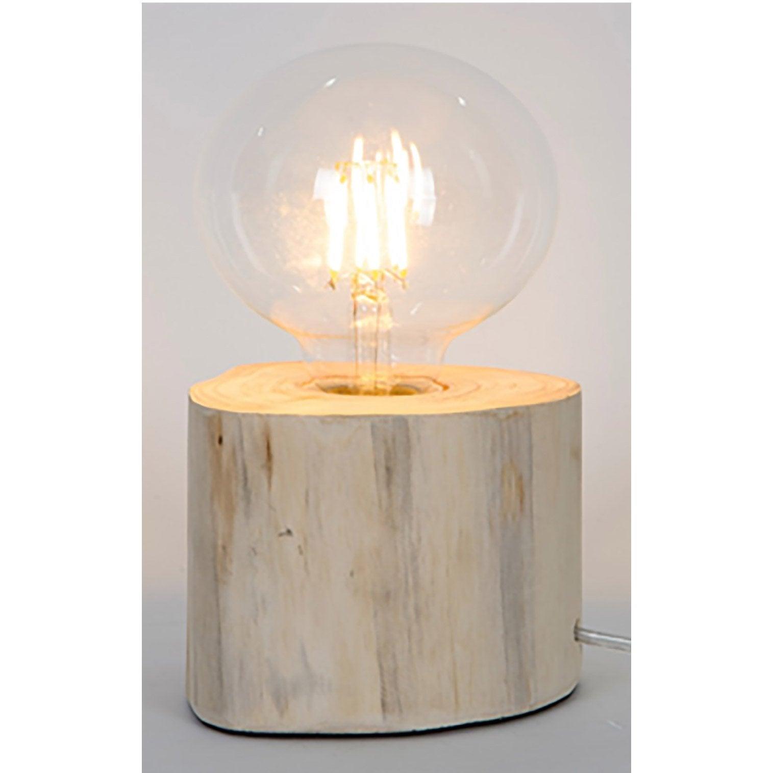 Lampe charme romantique bois, SAMPA HELIOS Pam