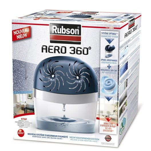 absorbeur d 39 humidit une recharge a ro 360 rubson 40 m. Black Bedroom Furniture Sets. Home Design Ideas