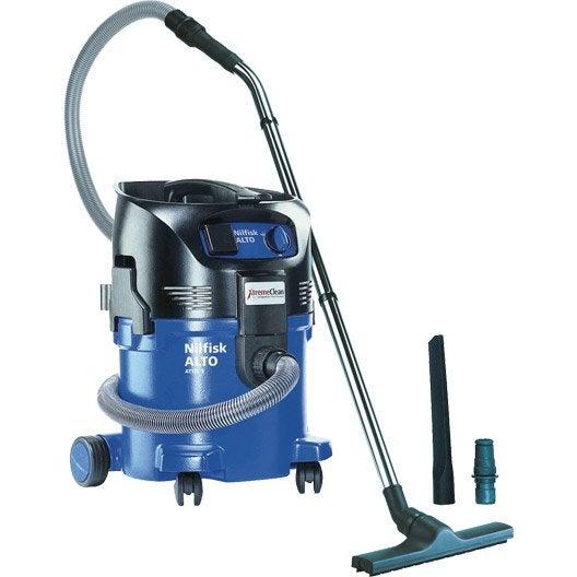 aspirateur eau et poussières nilfisk , 25 kpa , 30 l | leroy merlin