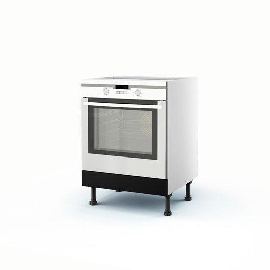meuble de cuisine bas noir four mat edition x x cm leroy merlin. Black Bedroom Furniture Sets. Home Design Ideas