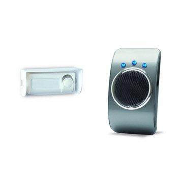 Carillon sans fil flash et vibreur EXTEL Looflash, noir et gris