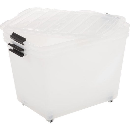 boite de rangement boite plastique pin carton leroy merlin. Black Bedroom Furniture Sets. Home Design Ideas