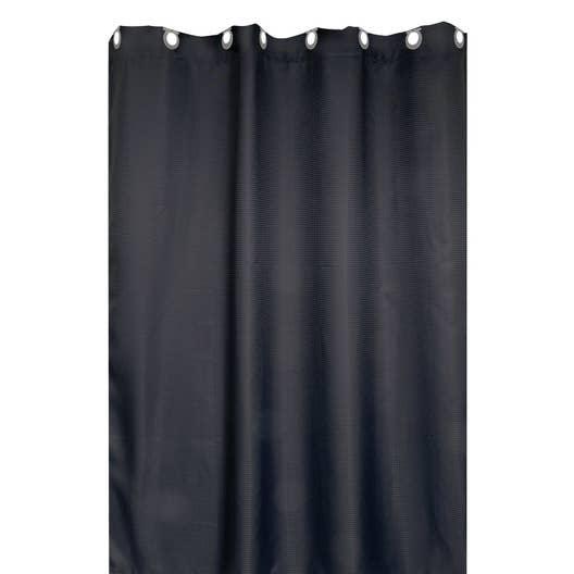Rideau de douche en textile gris zingué n°1 l.180 x H.200 cm, Maya ...