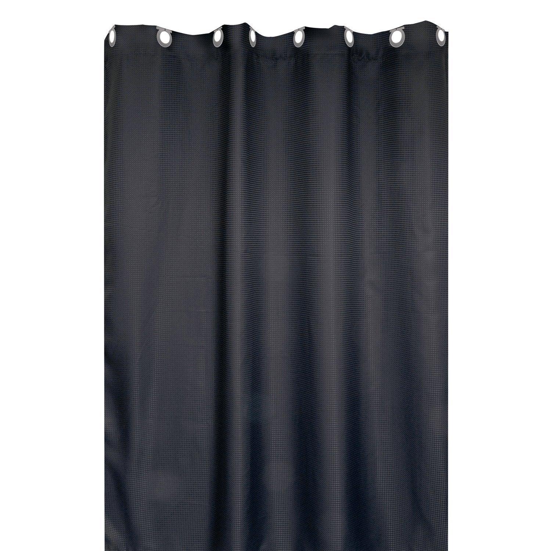 Beau Rideau De Douche En Textile Gris Zingué N°1 L.180 X H.