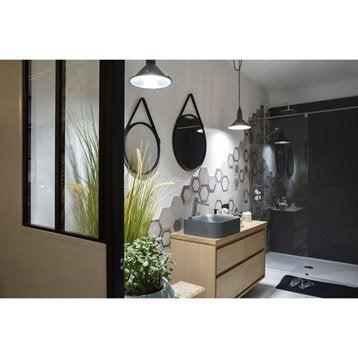 Verrière atelier aluminium noir, vitrage non fourni, H.1.08 x l.0.63 m