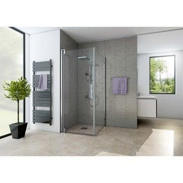 Porte de douche pivotante 79 cm, transparent, Adena