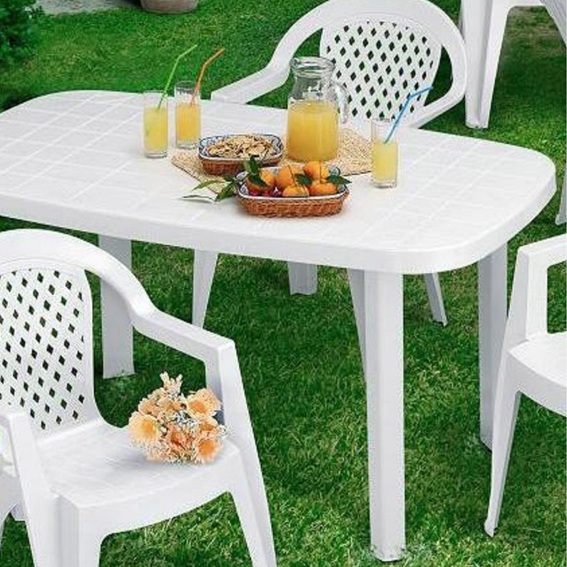 Table de jardin de repas Otello ovale blanc, 2 personnes | Leroy Merlin