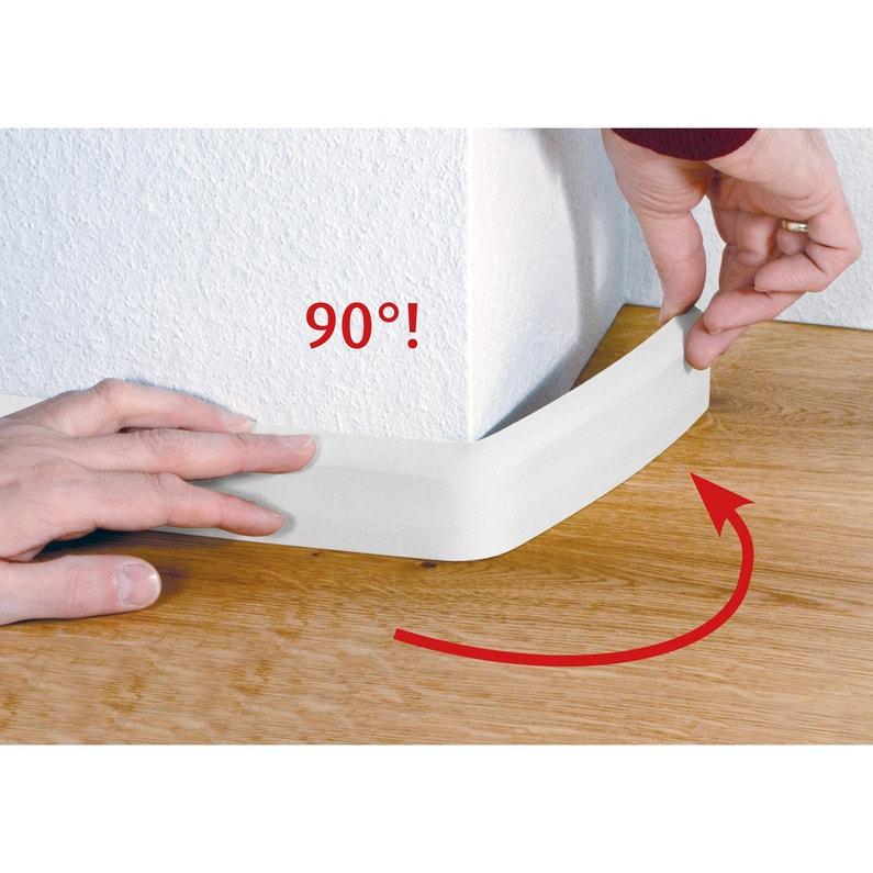 Plinthe Flexible En Pvc Blanc 14x80mm L 240m