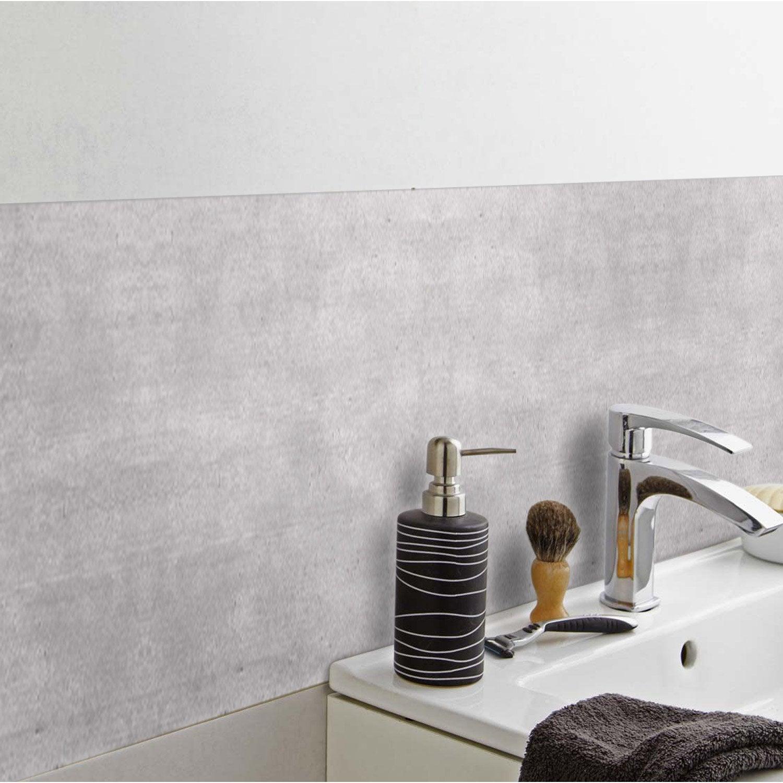 Crédence adhésive rigid ciment clair 24.5 cm x 49 cm