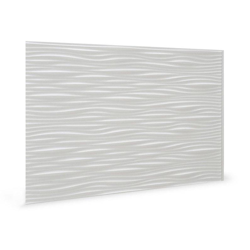 Panneau Mural Pvc Wilderness Blanc Brillant Innovera Decor L 64 X