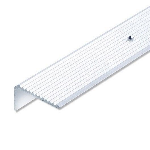 Nez de marche aluminium anodis l 2 m x l 4 1 cm x h 2 3 for Aspect de l aluminium