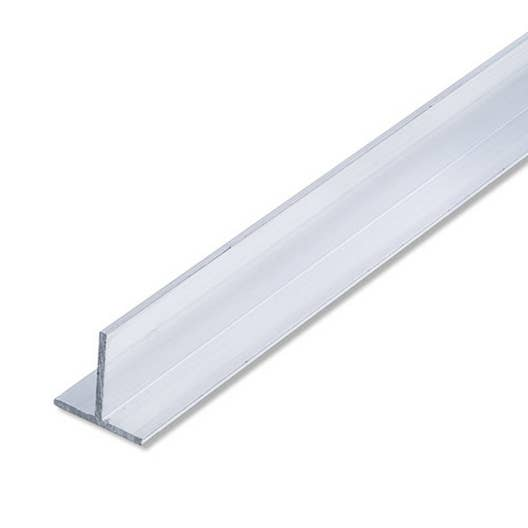 T carr aluminium brut l 1 m x l cm x h cm - Baguette de finition alu ...