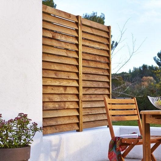 kit panneau persienn bois naturel x cm x mm leroy merlin. Black Bedroom Furniture Sets. Home Design Ideas
