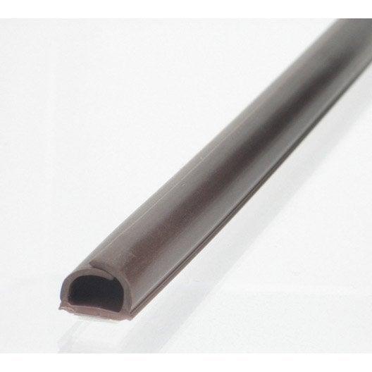 cache-câble wengé pour moulure, h.1 x p.100 cm | leroy merlin