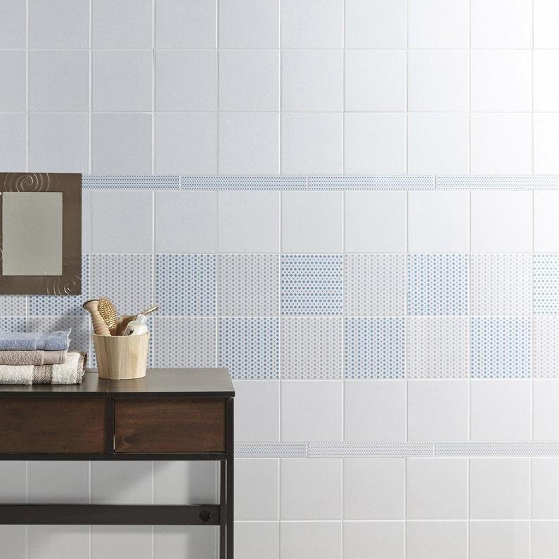 Carrelage mur blanc-blanc n°0 mat l.20 x L.19.7 cm, Astuce