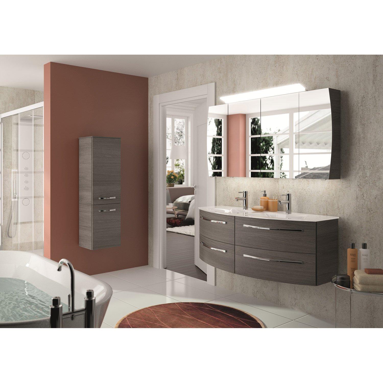 Meuble de salle de bains Image decor gris graphite 130 cm | Leroy Merlin