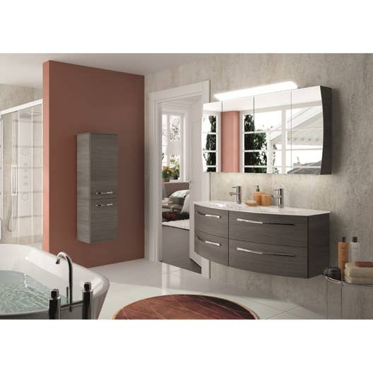 Meuble Salle De Bain Couleur Or ~ meuble de salle de bains image decor gris graphite 130 cm leroy merlin