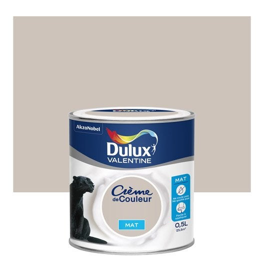 peinture grain de sable dulux valentine cr me de couleur mat 0 5 l leroy merlin. Black Bedroom Furniture Sets. Home Design Ideas