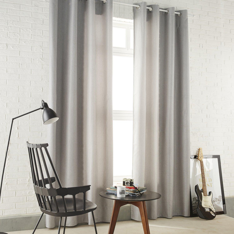 Des rideaux gris argent matiérés pour un salon au style industriel ...