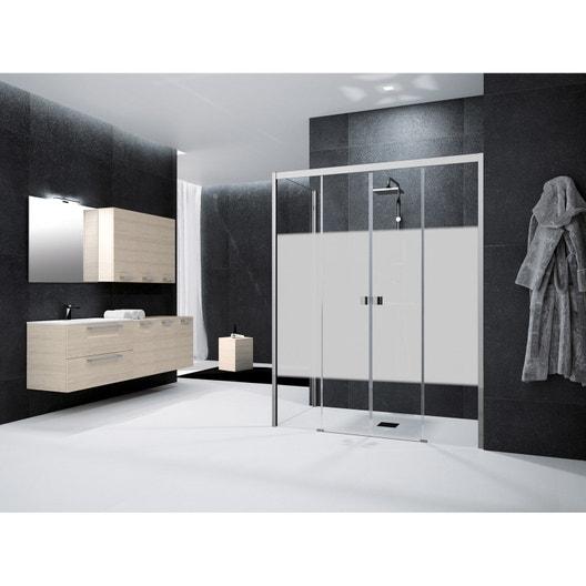 Comment choisir sa porte et sa paroi de douche leroy merlin - Porte douche serigraphie ...