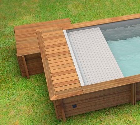 piscine hors sol bois urbaine proswell l 4 2 x l 3 5 x h. Black Bedroom Furniture Sets. Home Design Ideas