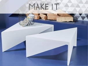 Diy fabriquer une banquette triangulaire leroy merlin - Creer une table basse ...