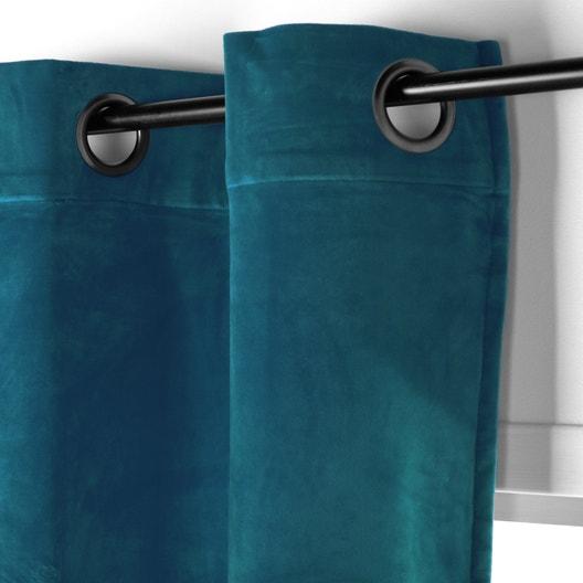 rideau tamisant chambord velours bleu canard x h. Black Bedroom Furniture Sets. Home Design Ideas