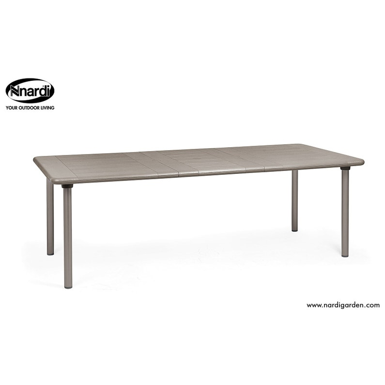 Table de jardin NARDI Maestrale rectangulaire taupe et aluminuim 8 ...