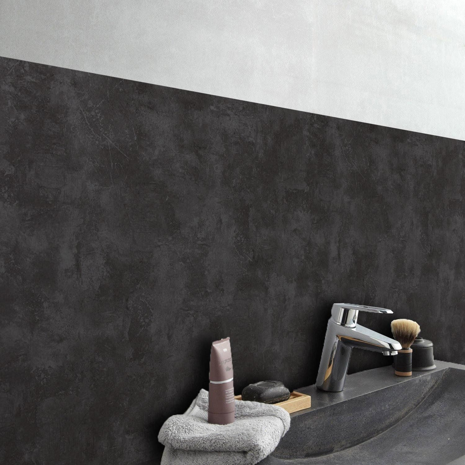 Crédence adhésive rigid ciment dark 24.5 cm x 49 cm