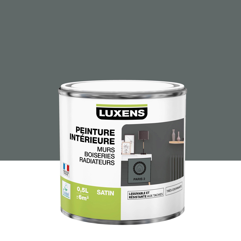 Peinture, mur, boiserie, radiateur, Multisupports LUXENS, paris 2, satiné, 0.5 l