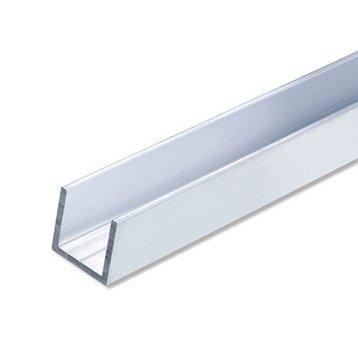 U carré aluminium brut, L.2.5 m x l.1.55 cm x H.1.55 cm
