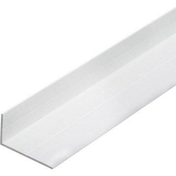 Cornière inégale pvc mat, L.2.5 m x l.5.36 cm x H.5.36 cm