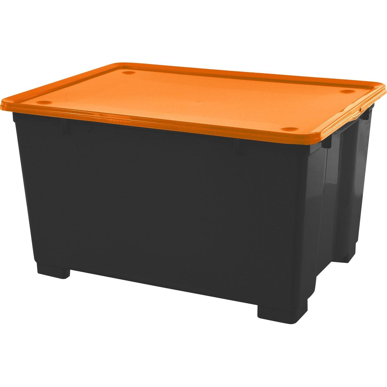 malle plastique x x cm leroy merlin. Black Bedroom Furniture Sets. Home Design Ideas