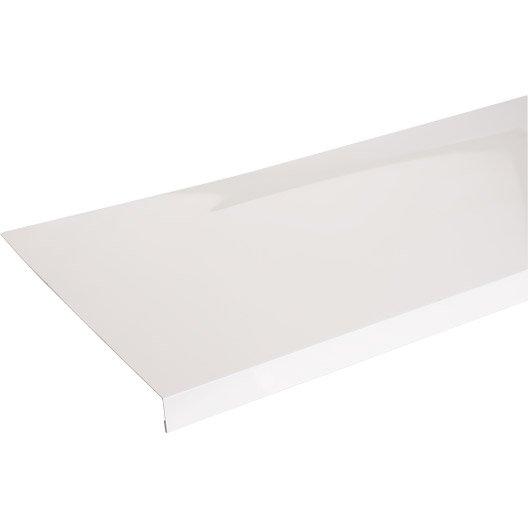 Appui de fen tre aluminium 30 x 250 scover plus blanc l 1 - Pose appui de fenetre alu ...