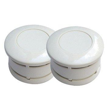 Lot de 2 détecteurs de fumée LIFEBOX, 5 ans