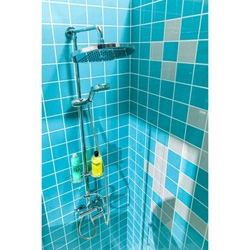 Faïence mur bleu atoll n°5, Astuce l.10 x L.10 cm