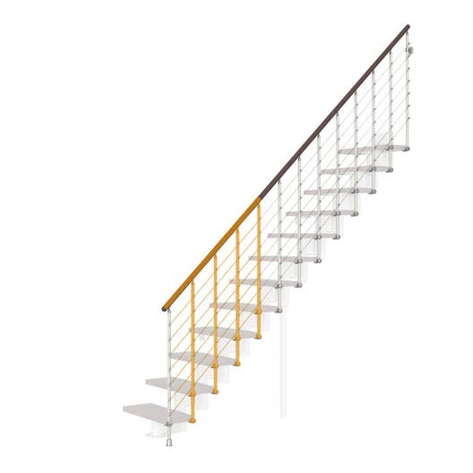 Garde-corps pour escalier Mini Line blanc en bois foncé PIXIMA ...
