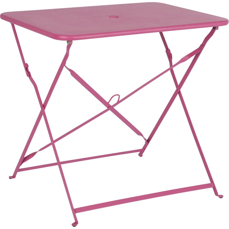 Table de jardin Capri rectangulaire rose 2 personnes | Leroy Merlin