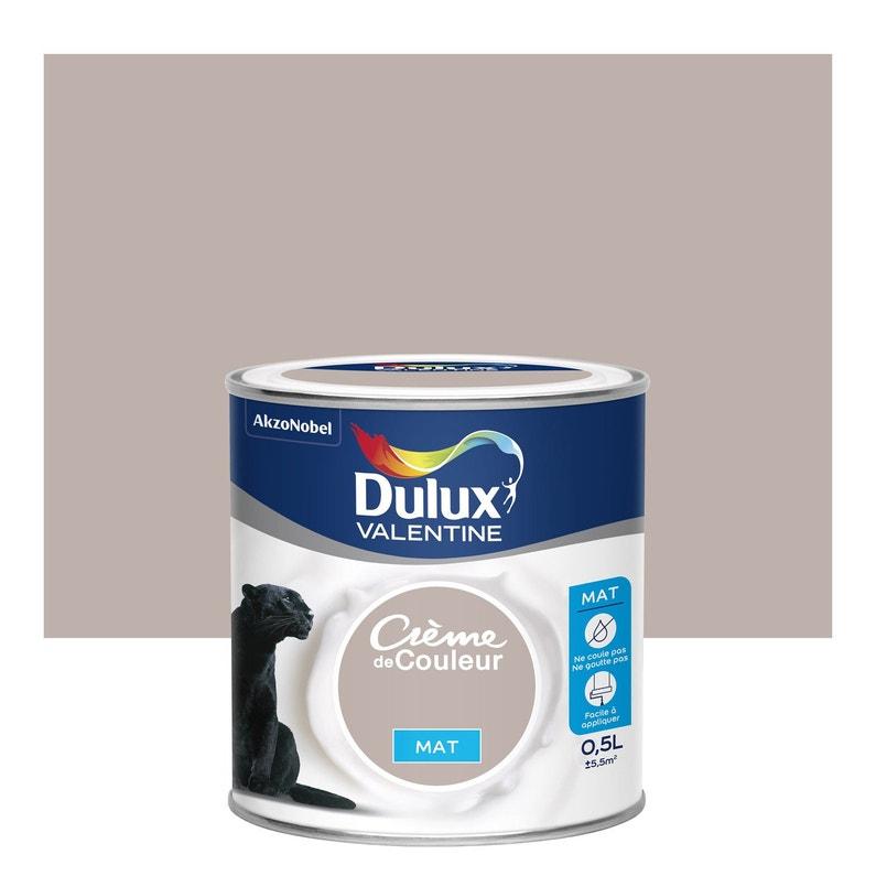 Peinture marron glacé mat DULUX VALENTINE Crème de couleur 0.5 l