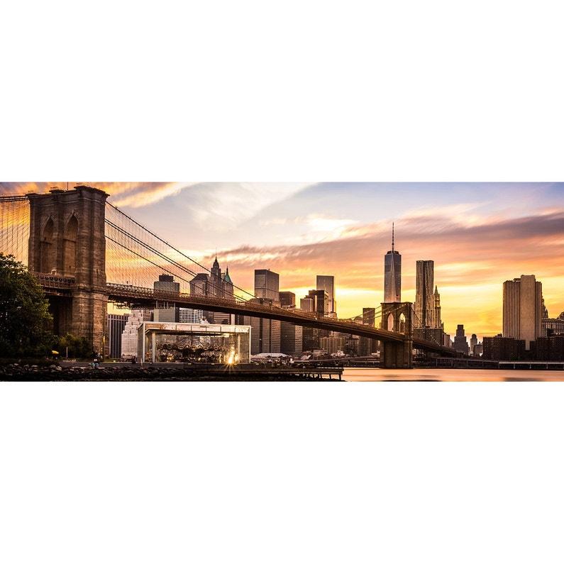 Toile Imprimée Pont De Brooklyn L136 X H48 Cm