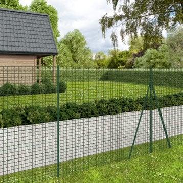 Grillage rouleau soudé Forte medium nature vert ,H.1.8 x L.20 m H.50 x l.50.8 mm