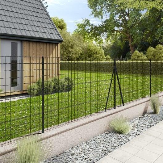 grillage rouleau soud palma nature gris h 1 x m. Black Bedroom Furniture Sets. Home Design Ideas