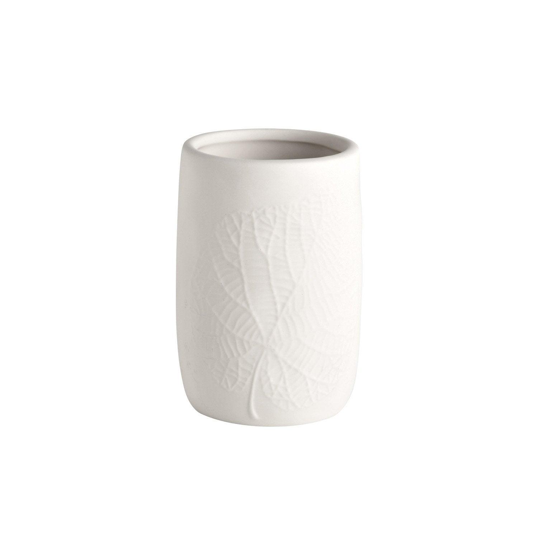 Gobelet porcelaine Empreinte, blanc