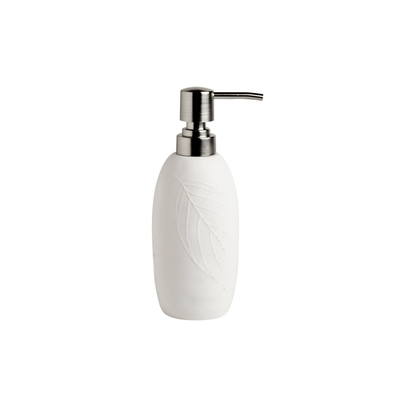 Distributeur de savon porcelaine Empreinte, blanc