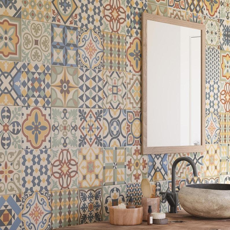 Carrelage Sol Et Mur Multicolor Couleur Antan L3315 X L3315 Cm