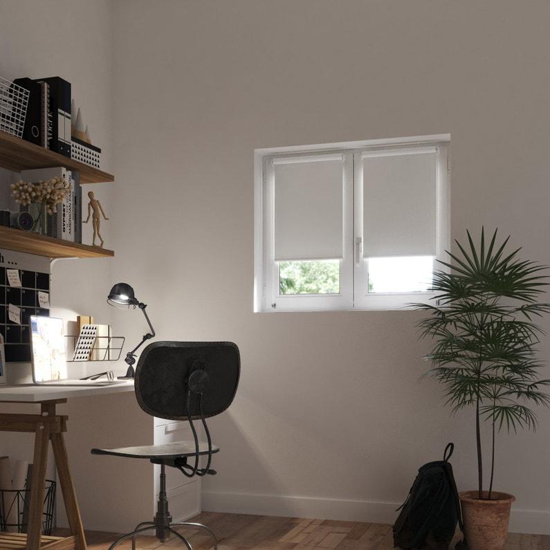 Store Enrouleur Occultant Blanc L45 X 90 Cm