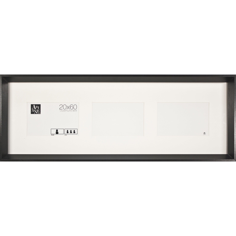 Cadre Milano, l.60 x H.20 cm, mdf noir