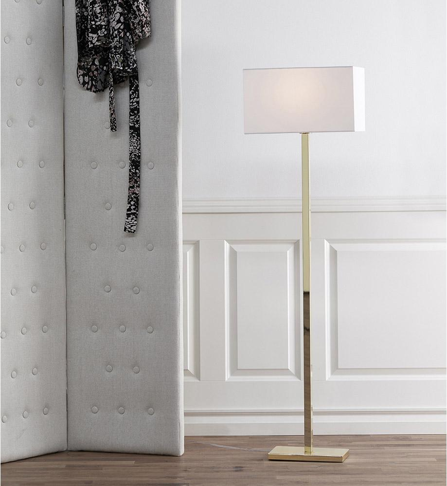 Lampadaire Savoy, 136 cm, blanc, 60 W