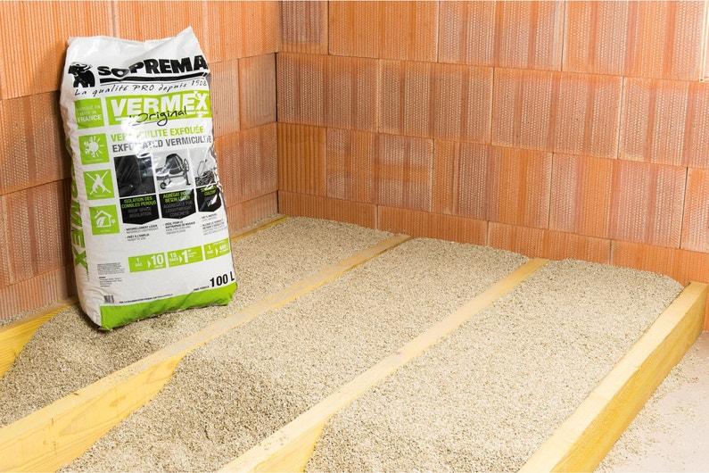 Vermiculite à Soufflerépandre Soprema Sac 100l R En Fonction De Lépaisseur